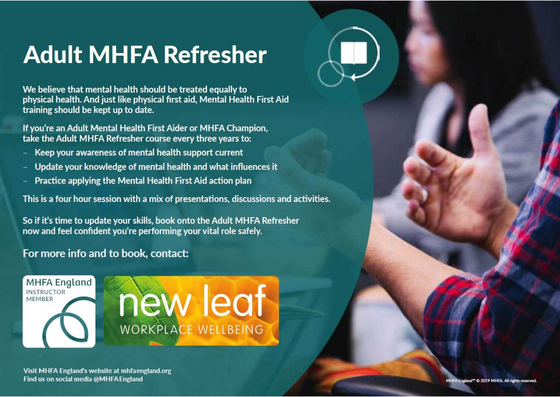 mental health at work refresher course
