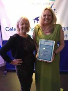 Taunton Deane business Awards with Deborah Meadon